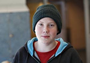 Johan Sving, 15 år, Gävle– Jag tycker det är bra som det är nu.