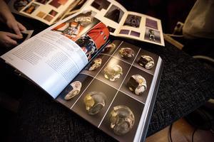 Böckerna innehåller allt ett fan kan önska sig. Här räknas de olika hjälmarna som används i filmerna upp.
