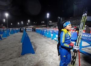 Elisabeth Högberg sköt fullt på inskjutningen och var besviken att tävlingen blev inställd.
