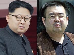 Kim Jong Un och halvbrodern Kim Jong Nam.
