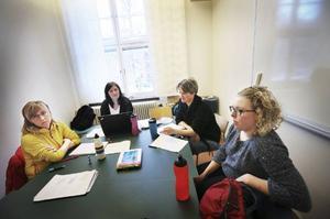 Joanna Cardegren (Hackås), Jennie Reisek (Storuman), Sara Stålhand (Rätan) och Karin Åström (Sandviken) siktar på att ta sin sjuksköterskeexamen i juni. De går då ut på en gynnsam arbetsmarknad och de vill ha bra betalt.