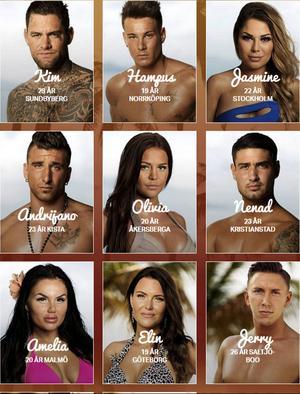 Några av deltagarna i årets Ex On The Beach.