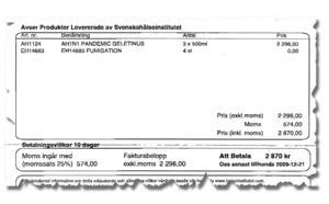 Så här ser erbjudandet från Svenska Hälsoinstitutet ut, förbluffande likt en faktura.