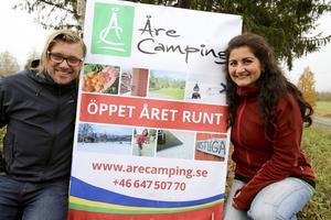 Valentina Vergara och Stefan Jarlhed, nya ägare till Åre camping, rustar nu som bäst inför vintersäsongen. Gamla Såå camping, numera Åre camping, är beredd för nypremiär.