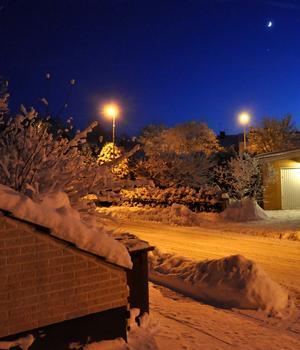 Vinter, klart och kallt och nymåne!