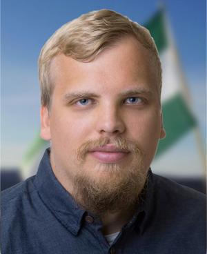 Martin Saxlind. Bilden kommer från motståndsrörelsens egen hemsida nordfront.se
