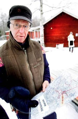 Ut i skidspåren. Sportlovet är ett bra tillfälle att att pröva skidspåren kring Falun, tycker Tage Gustafsson från föreningen Gruvspårets vänner.