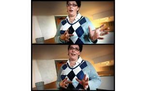 Jenny Sjödin, före detta missbrukare, var med under paneldebatten.FOTO: STAFFAN BJÖRKLUND