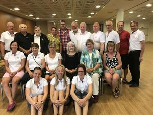 Några av deltagarna på den internationella danskonferensen därSvenska Dansbandsveckan i Malung deltog.