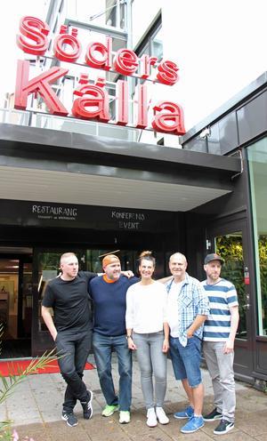 Sebastian Andersson, Hans Carstensen, Anna Gaude (ansvarig för evenemang vid Söders källa), Stefan Söderblom och Mathias Heldevik.