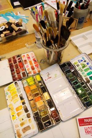 Åter till måleriet. Odd Larssons nästa separatutställning kommer att omfatta både akryl, olja och akvarell.