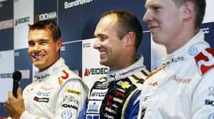 Fredrik Ekblom, Rickard Rydell och Johan Kristoffersson var de tre snabbaste i första loppet.