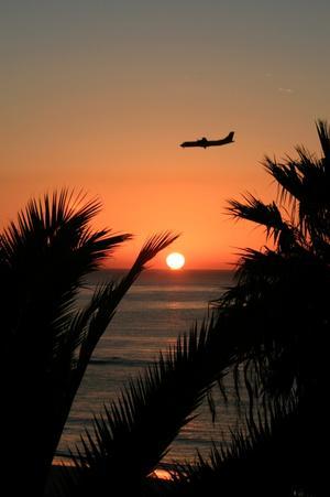 Bilden tagen den 19/1 2011 kl. 08.05 från vår balkong på Hotell Sol Lanzarote.
