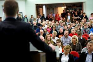 Det var fullsatt när fullmäktige diskuterade skolan i  Hjortkvarn den 29 april.Arkivfoto: Håkan Risberg
