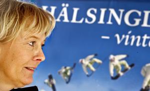 Maria Owén från Hälsingland Turism såg till att evenemanget flöt på.