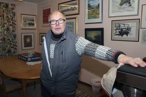 Kjell Gustafsson är ordförande för hembygdsföreningen som ordnar julmarknaden. Han är glad över intresset som är stort varje år.