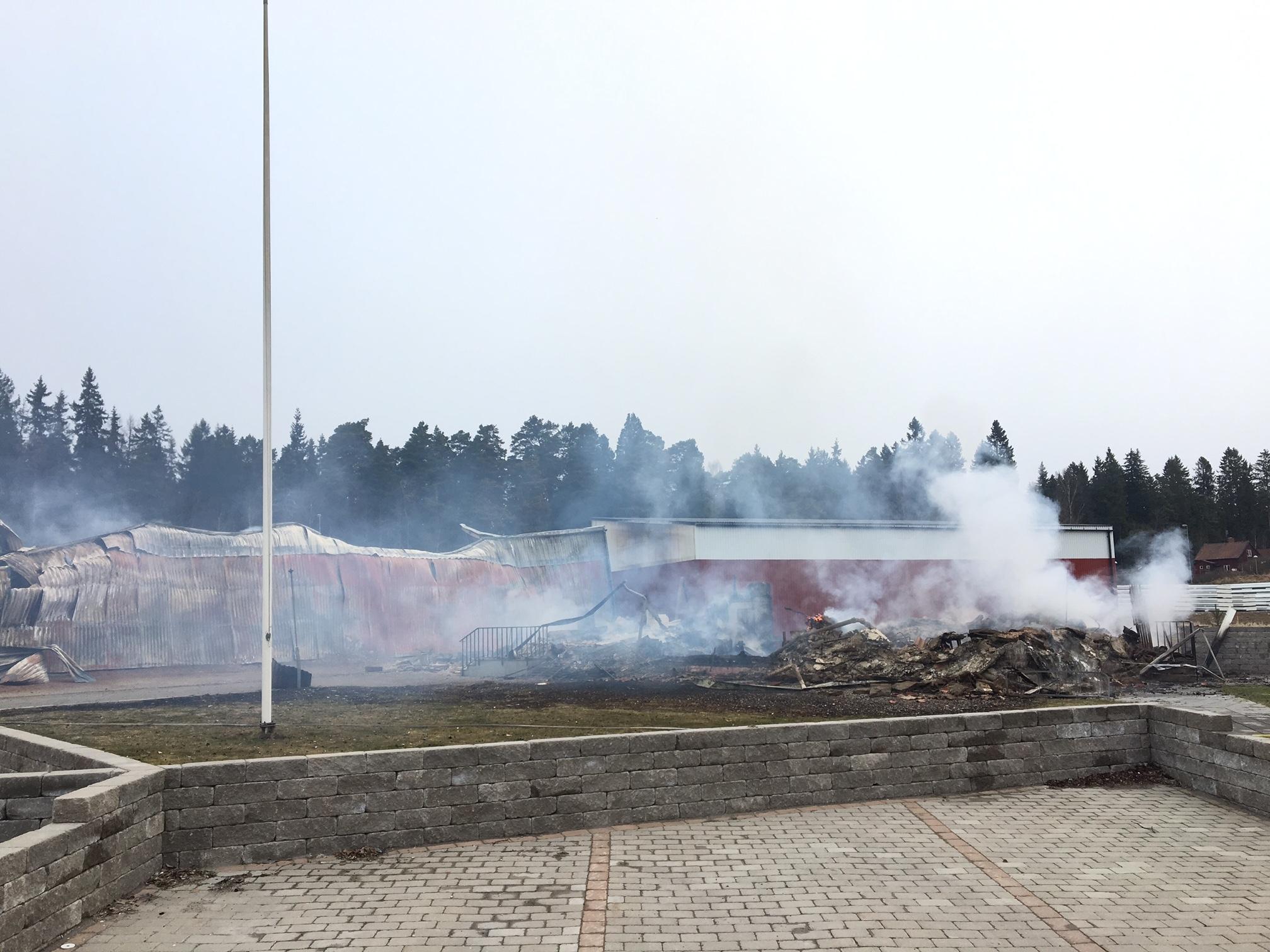 Misstankt anlagd brand i lagerlokal