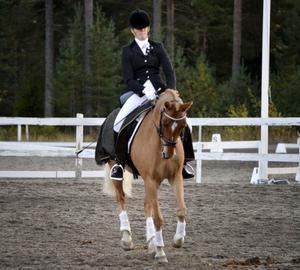 Amanda Frestadius och Prince Pogi, Hudiksvall, tog DM-guld i kategori D