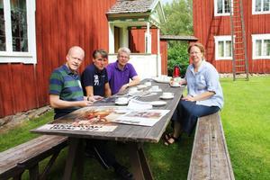 Curt Farén, Lennart Ingesson, Björn Mårtensson och Elisabeth Eriksson.
