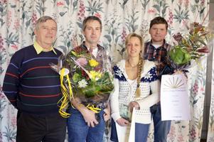 Företagarna Rättviks ordförande Rolf Christerson till vänster. Vidare Roger och Tin Gumuns samt Nils Edfalk.