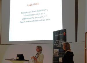 Birgitta Virgil och Katarina Edlund, länsstyrelsen, målade upp en svart bild om läget i länet.