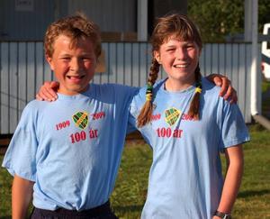 Ungdomarna från Duved visade sig på styva linan ordentligt, här klassegrarna Arvid Jonsson och Signe Rosenberg. Foto: Leif Eriksson