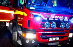 Räddningstjänsten larmades till branden strax före 18.30 på onsdagen.