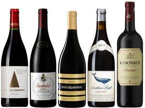 Fem riktigt goda druvor på Sydafrikas nationaldruva pinotage.