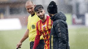 Nahir Oyal tvingades kliva av skadad mot Varberg.