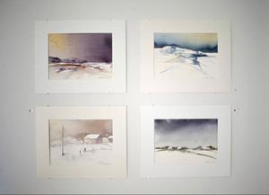 Frida Lorén hämtar sina motiv från skiftande platser som Bohuslän, Norge och Italien.