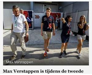 Figurerade i holländsk tidning då jag kör det inom fotbollen kända