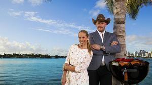 Malin Gramer och Johan Jureskog letar efter världens bästa burgare i en ny serie i TV3.