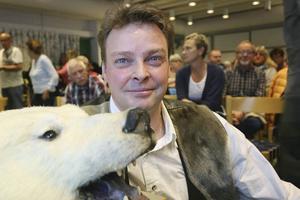 Hans Mårtensson hemma i Hede tidigare i år då han höll en uppskattad föreläsning om Svalbard.