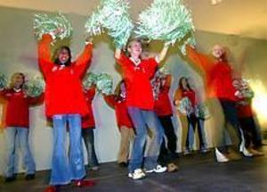 Cheer Ladies framträdde på Treffen. Foto: ANNAKARIN BJÖRNSTRÖM