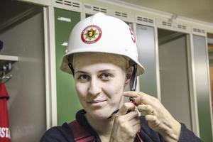 Med sina 20 år är Teresia Olsson yngst i Ramsjökåren tillsammans med sambon Johan Nilsson.