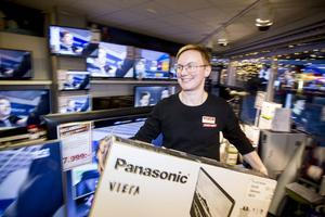 På Audio Video är det tv-apparater som gäller på mellandagsrean, enligt ägaren Elisabeth Bratt.