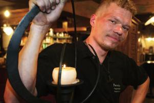 En av Fredrik Thelins ljusstakar