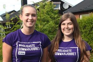 Johanna och Amanda deltar i projektet