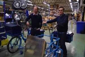 Andreas Hedbom och Mats Hermansson är både stolta och glada över att de landat avtalet med Postnord.