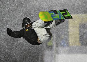 Niklas Mattsson kom åtta i Big Air-finalen i Istanbul.