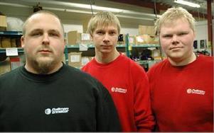 Så sent som i våras tog Kristoffer Andersson, Andreas Danielsson och Per-Olov Viklund på sig ledningen av metallklubben. Nu står de inför en tung förhandling.FOTO: CHRISTER NYMAN