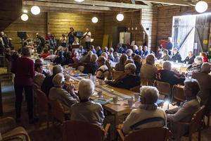 Första musikcaféer hölls på hembygdsgården i Ljusdal under söndagskvällen.