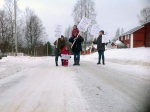Protesttåget gick genom Öratjärndalen under tisdag 24 januari.