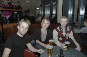 Skybar. Johan Norberg, Stefan och Jonas