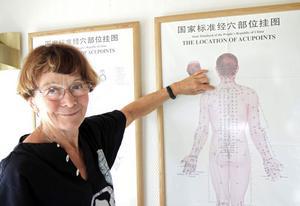 Genom hela kroppen går energiflöden. Med hjälp av akupunktur och massage kan man påverka energin. Margareta Lindblad är även en av grundarna till förlaget Willmaguide som ger ut reseböcker.