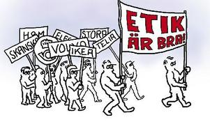Etik är bra på papperet. ILLUSTRATION: BERNT LINDBERG