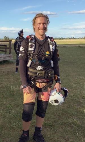 Johan Karlsson, Fallskärm Gefle, nybliven svensk och nordisk mästare i Canopy Pilotin.