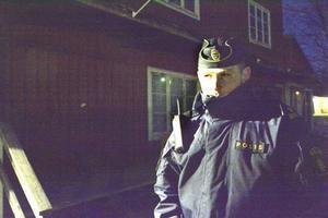 Polisen Björn Svanberg var på plats i Hammerdal under lördagskvällen.