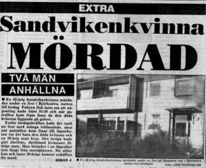 På morgonen efter festen i Björksätra hittades den 43-åriga kvinnan död i sin säng.