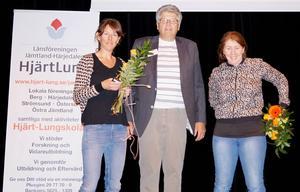 Medverkade under Hjärtats dag gjorde från vänster: Marie Knutsson, Karl-Erik Hermansson och Annica Breil.   Foto: Jan Jonsson